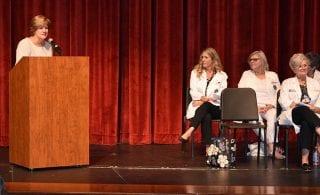 Susan Kristiniak of Northwest Medical Center-Springdale welcomes students to the nursing profession.