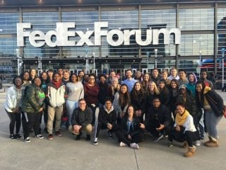 University Recreation students visit Memphis on Martin Luther King Jr. Day, Jan. 21, 2019. Their main stop was the National Civil Rights Museum.