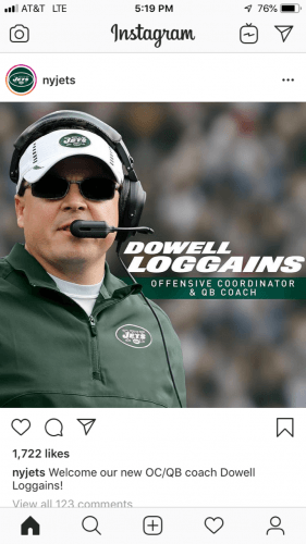 Dowell Loggains, New York Jets
