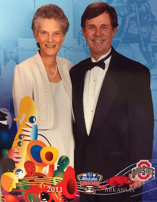 Sharon and David Hunt at the 2011 Sugar Bowl