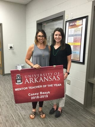 Casey Bazyk and U of A teacher candidate, Auburn Peters