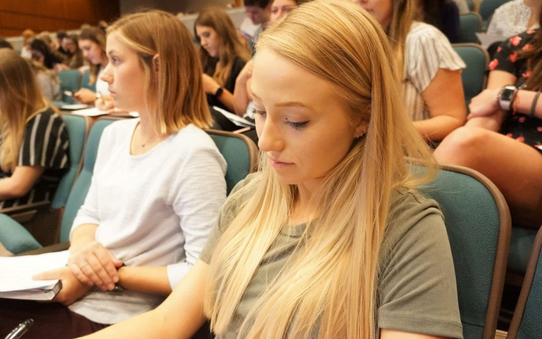 First-Year Nursing Students Attend 'Road Maps to Student Success' Event