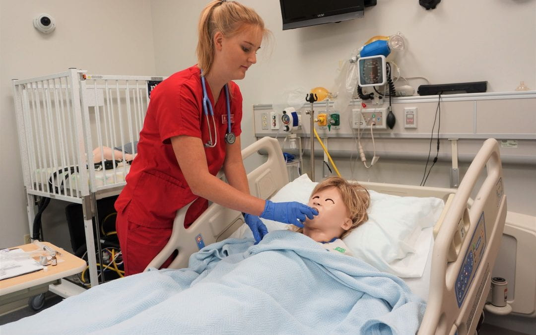 U of A Nursing Students Help Deliver Babies, Care for Stroke Victims in High-Tech Simulation Lab