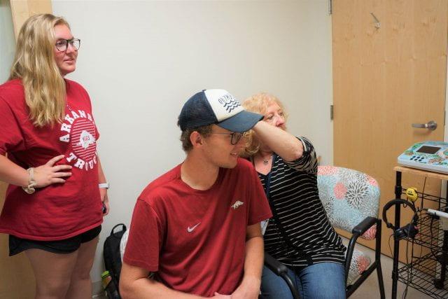 Speech hearing clinic, band student study