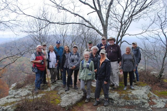 Hikers on mountain, OLLI group