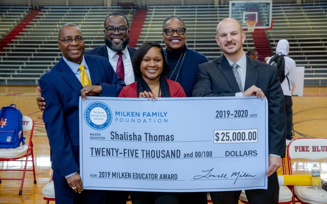 Arkansas Academy for Educational Equity Fellow Wins Milken Educator Award