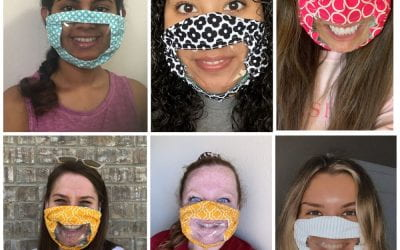 Determined Design: Faculty Partner to Create Masks With Windows, Improving Communication