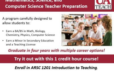 Interested in an Education Minor? Try the UAteach Try Out Teaching' Course