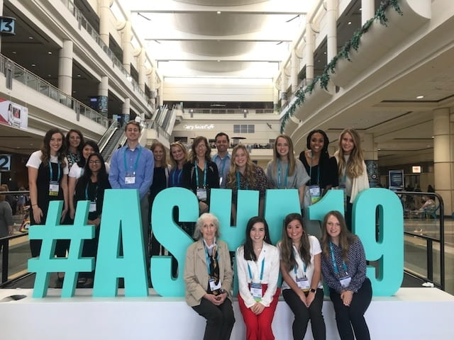 Ruhee Keshwani and fellow Communication Sciences and Disorders students pose at the ASHA 2019 Conference