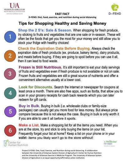 Tips for Shopping Healthy & Saving Money