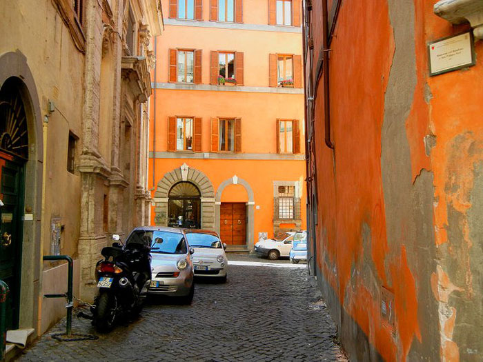 "Professor Laura Terry took this photo, titled ""Roman Orange,"" on one of the small streets leading to the studio at Palazzo Taverna in Rome this spring."
