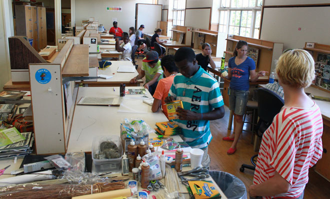 Young students learn the basics of design at summer camp