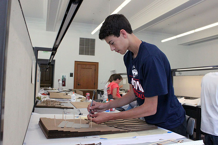 John Otten, a senior at Haas Hall Academy in Fayetteville, also attended Design Camp last year. (Photo by Julia Trupp)