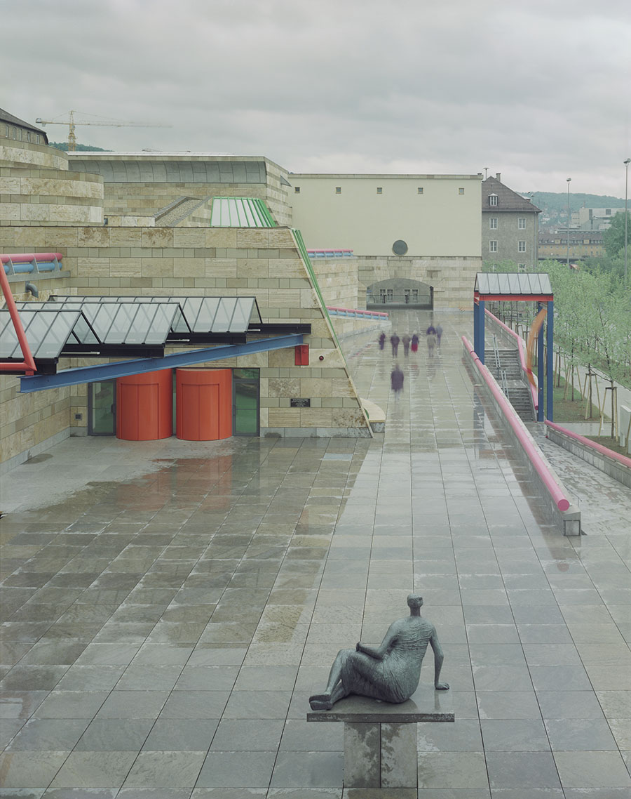 The Neue Staatsgalerie in Stuttgart, Germany, designed by James Stirling. (Photo by Tim Hursley)