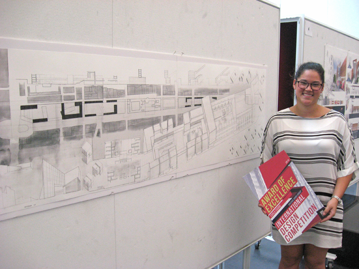 Carla Chang, shown here, and Juan Alvarez won an Award of Excellence for a design they created in the Mexico City studio.