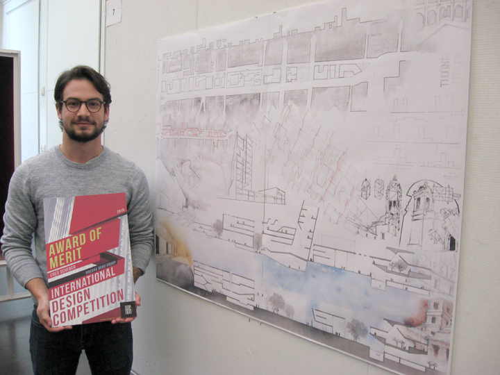 Greg Scherer, shown here, and Edmundo Gonzalez won an Award of Merit for a design they created in the Mexico City studio.