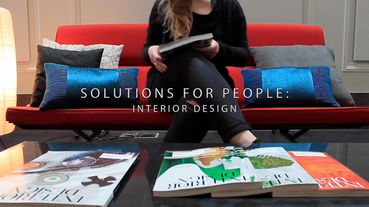 "Isaac Boroughs won second place in the national 2016 Interior Design Education Video Competition for his video ""Solutions for People: Interior Design."""