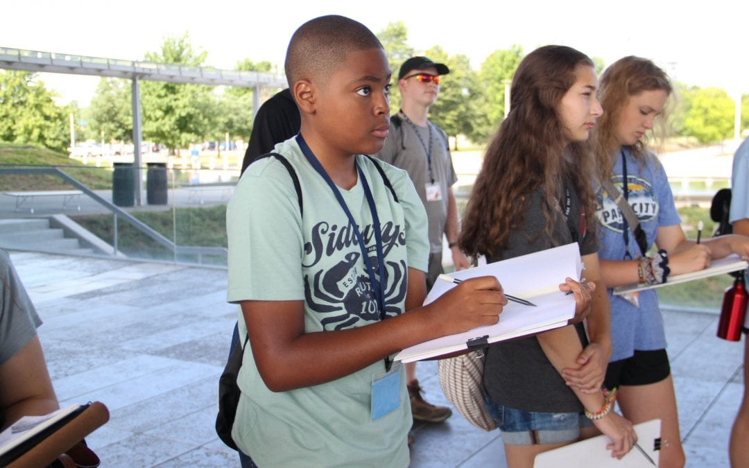 Design Camp students learn about urban design at state's capital