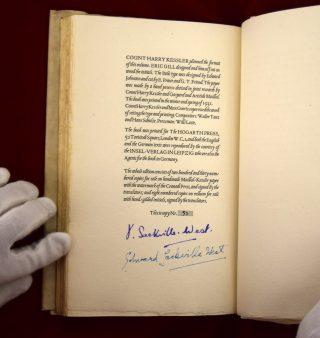 Sackville-West Signatures.