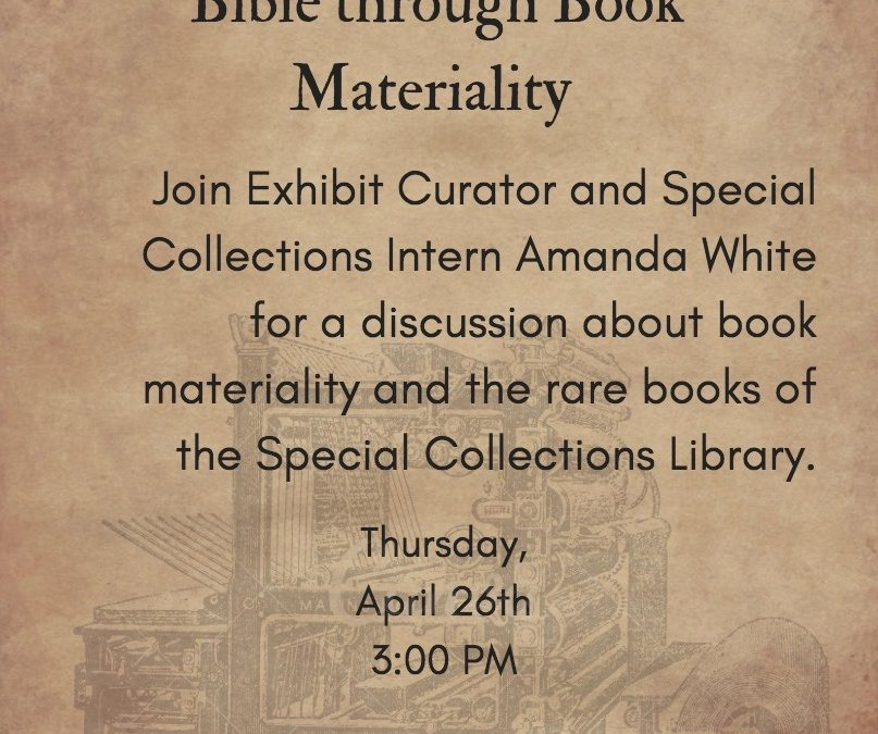 Special Collections Student Showcase April 26