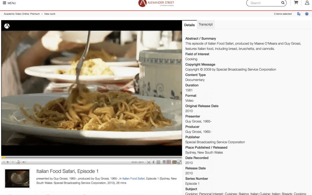 Hidden Databases: Academic Video Online (AVON)