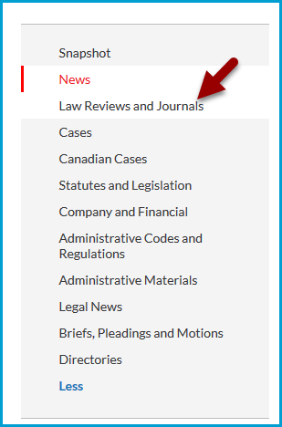 Nexis Uni Categories