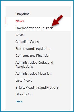 Nexis Uni Categories