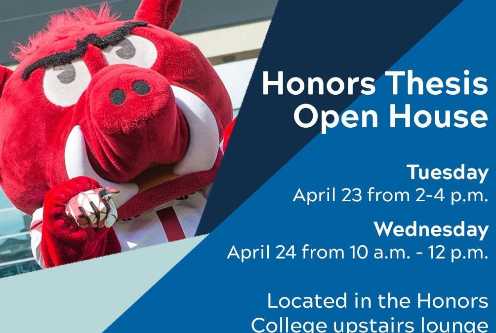 Honors Students Invited to Attend Thesis Open House