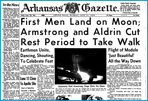 Arkansas Gazette, July 21, 1969