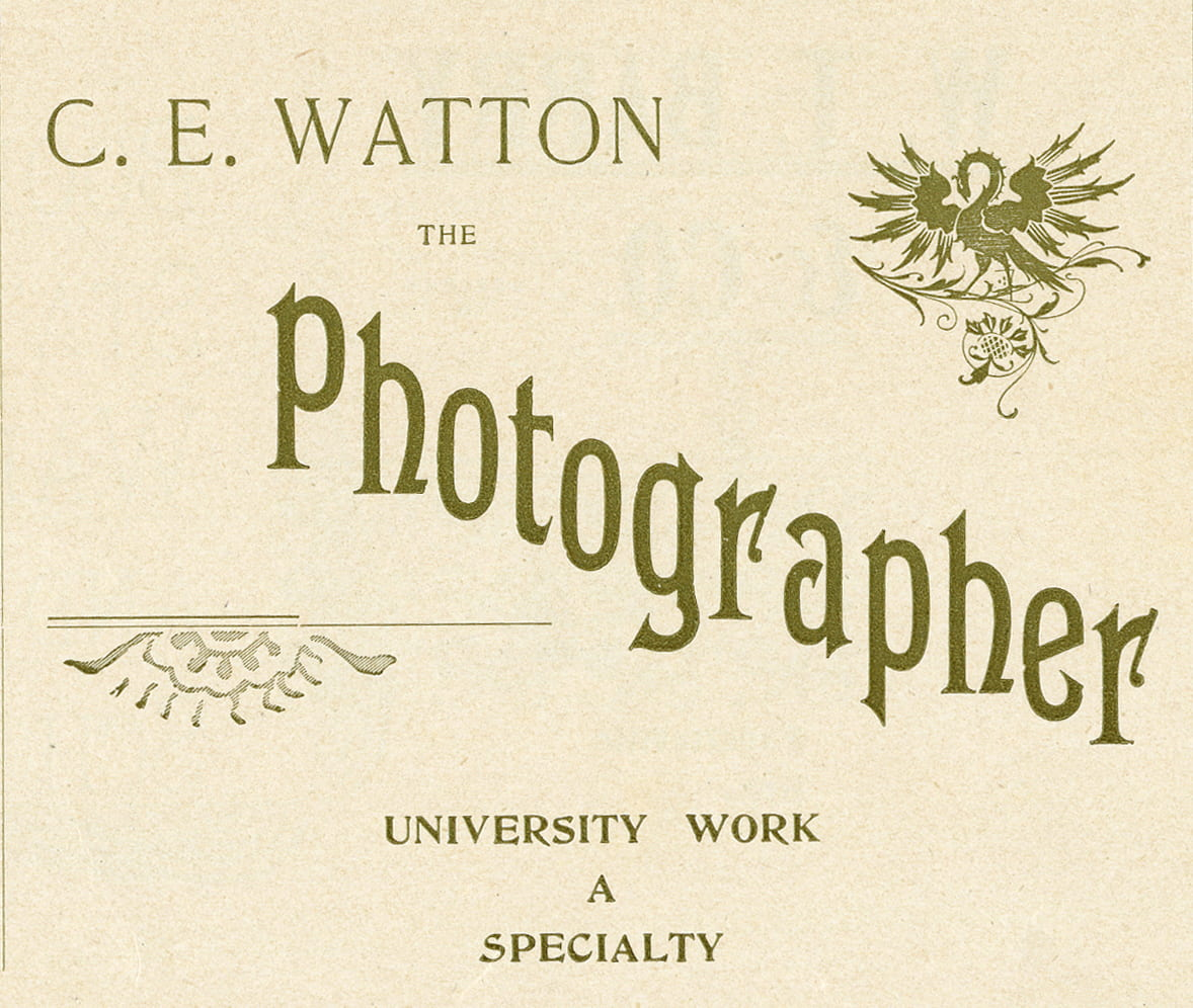 University Work a Specialty: Photographer C. E. Watton's Imprint on Fayetteville