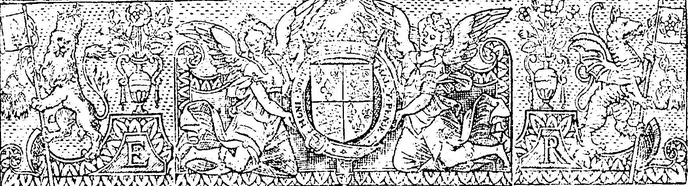 [Device of the royal arms of elizabeth I flanked by two angels and a lion and griffin] (1558). s.n.