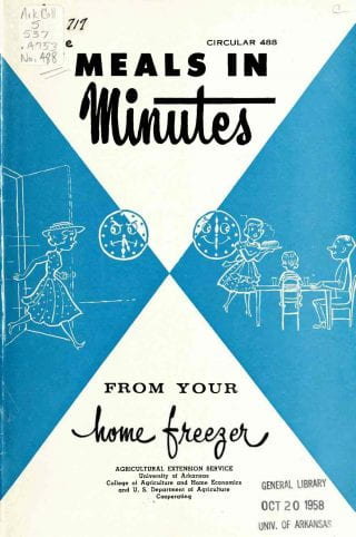 1958 Meals in Minutes pamphlet