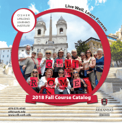 Cover of OLLI's Fall 2018 course catalog