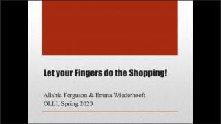 Let Your Fingers Do the Shopping Title Slide