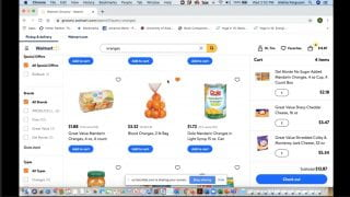 Online Grocery Shopping through Walmart Website