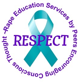 RESPECT circle logo in teal purple