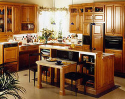 Multi-level work surfaces in the kitchen