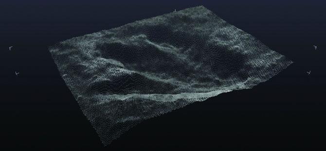 wireframe Dinosaur Track