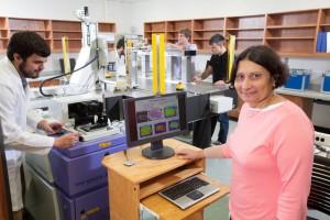 Magda El Shenawee in lab