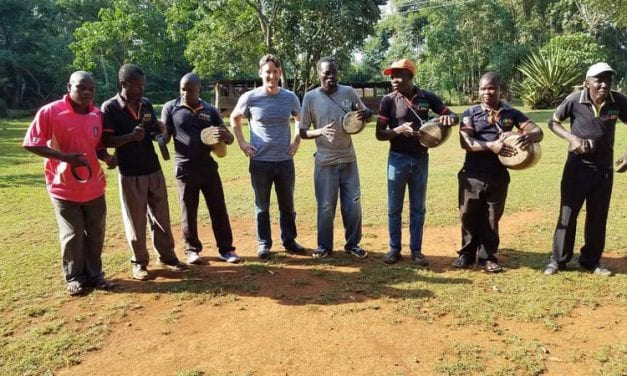 They Let You Get Close to the Lions: Stephen Caldwell's experience sharing music and making friends in Kenya.
