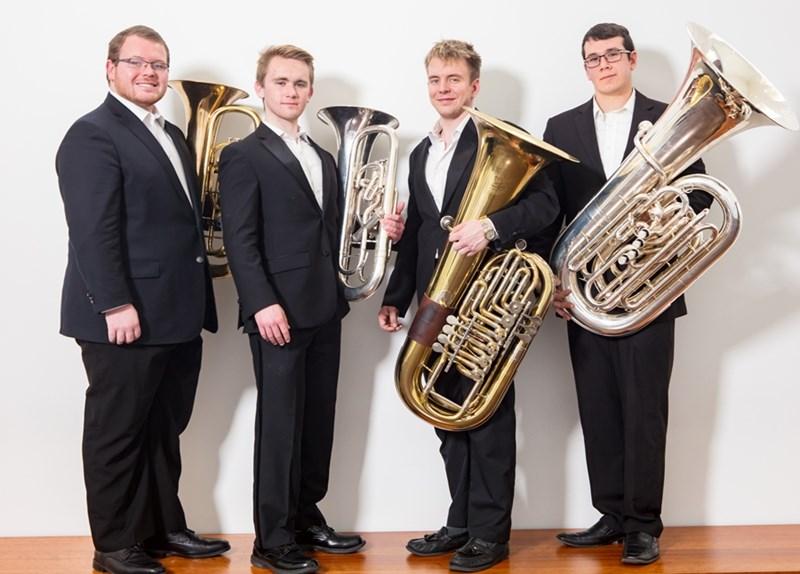 Tuba Quartet on Tour for Music75