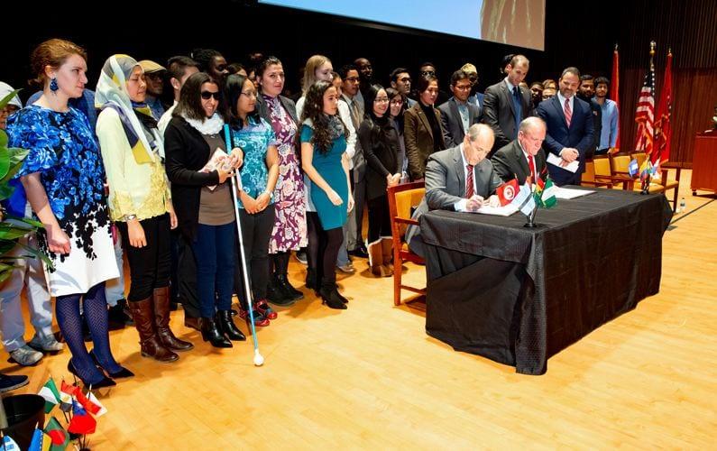 Namesake College and Program Celebrate J. William Fulbright's Legacy, Expand Partnership