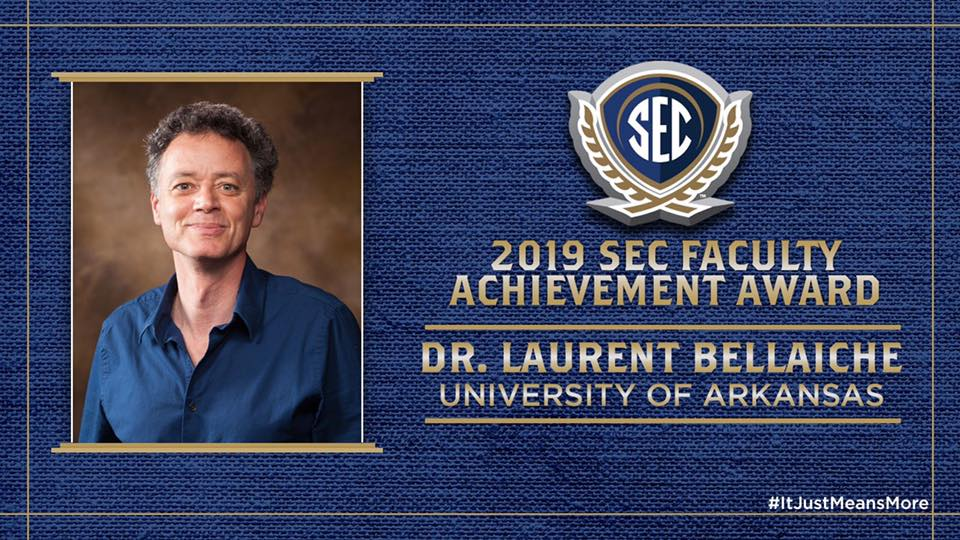 Physics' Laurent Bellaiche Receives SEC Faculty Achievement Award