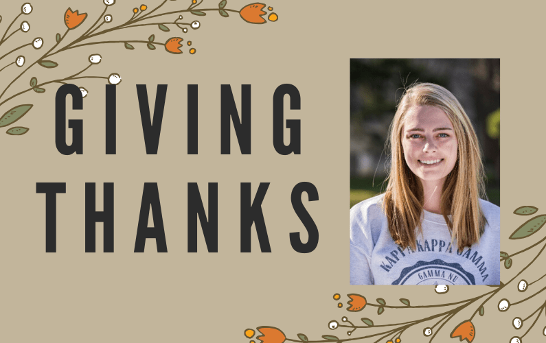 Giving Thanks: Fellowship Helps Journalism Major on Journey to Produce News and Teach