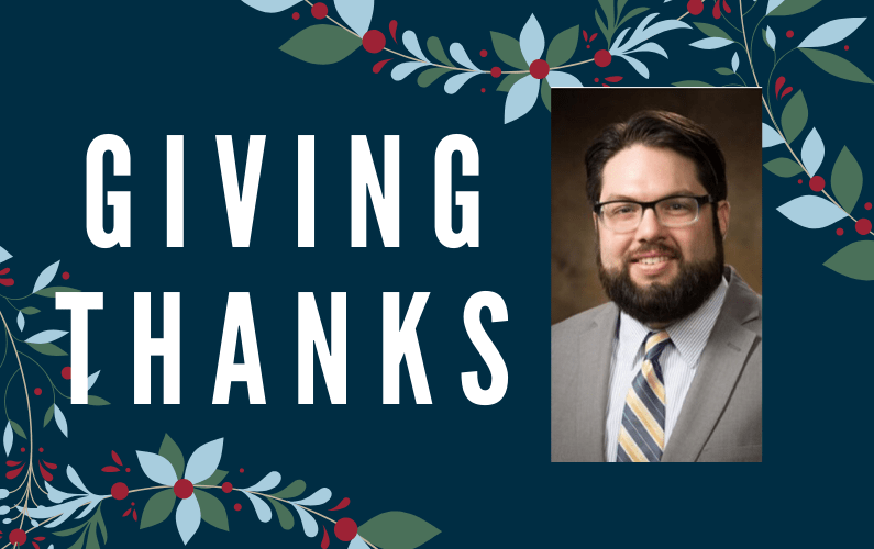 Giving Thanks: Fellowship Helps Doctoral Student Get a Step Closer to Being a History Professor