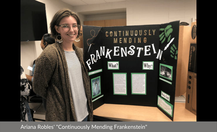 "Ariana Robles displayed ""Continuously Mending Frankenstein"""
