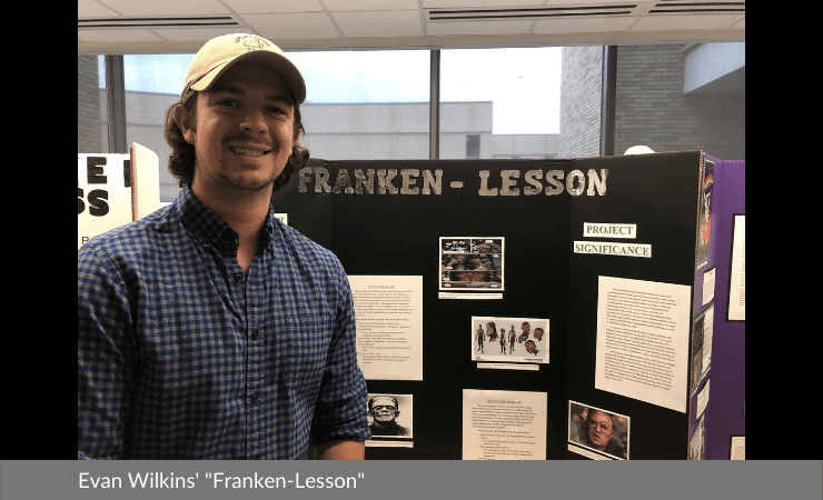 "Evan Wilkins displayed ""Franken-Lesson"""