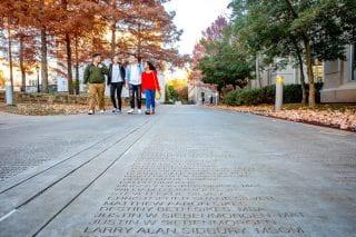 Senior walk in the fall
