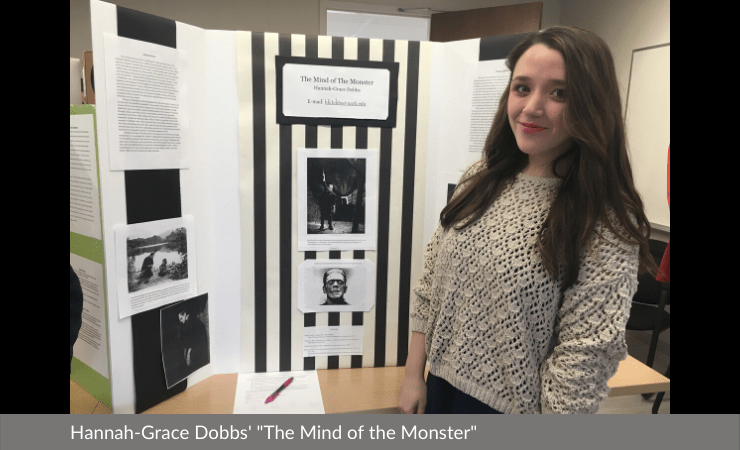 "Hannah-Grace Dobbs displayed ""The Mind of the Monster"""