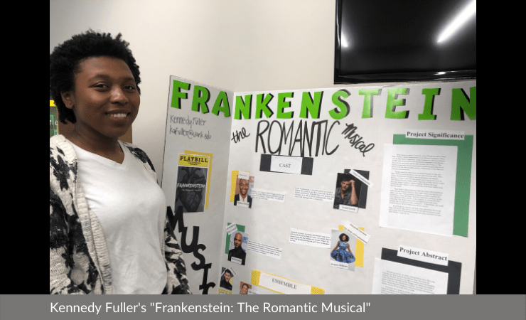 "Kennedy Fuller displayed ""Frankenstein: The Romantic Musical"""